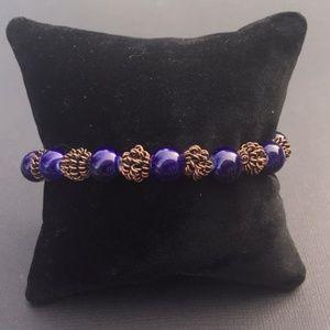 Custome Blue Stone Bracelet 6.75